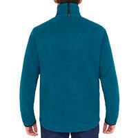 Men's sailing warm fleece Sailing 100 - Mottled petrol blue