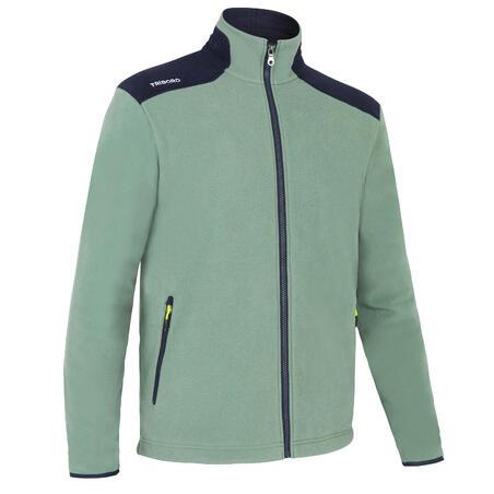 Men's sailing warm fleece Sailing 100 - Khaki / Navy