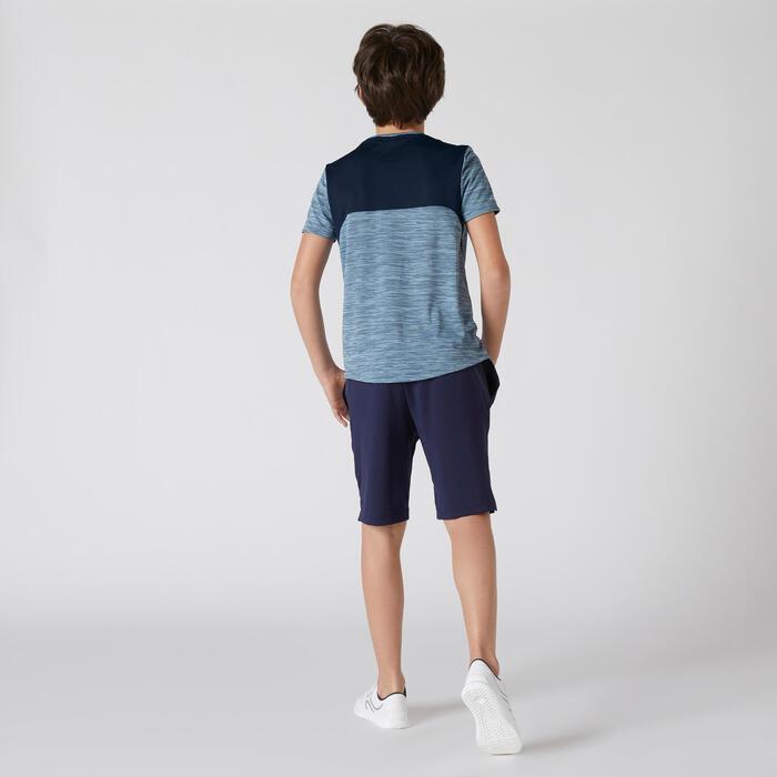 Shorts atmungsaktiv S500 Gym Kinder marineblau