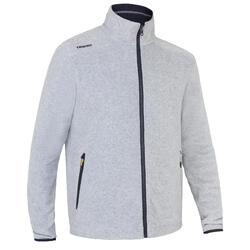 Men's sailing warm fleece Sailing 100 - Mottled grey