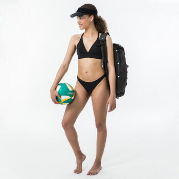 Viseira para Desportos de Praia Transparente Preta.