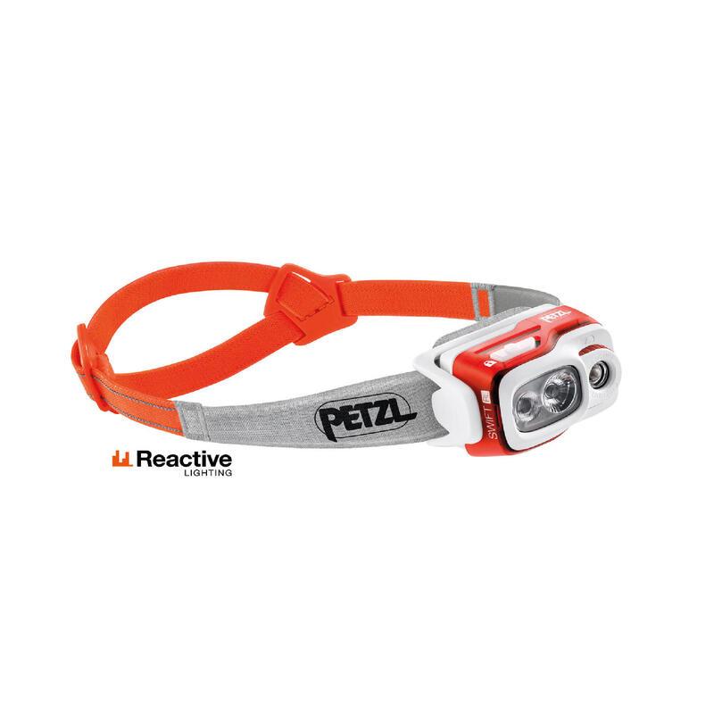 Linterna Frontal Petzl de Trekking y Montaña SWIFT RL USB 900 Lúmenes Naranja