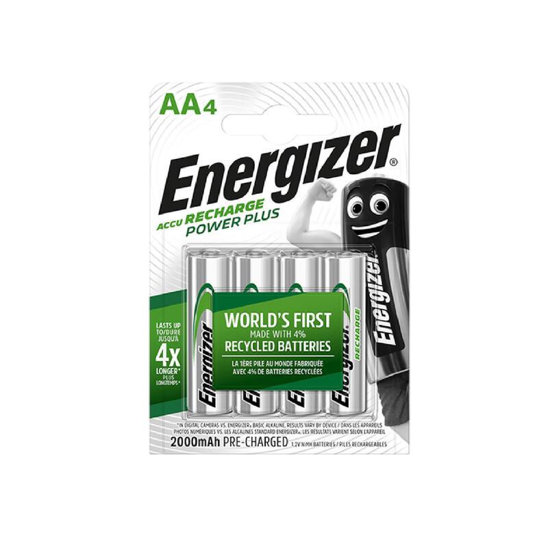Pilas recargables Energizer 4 AA/HR6 2000 mAh
