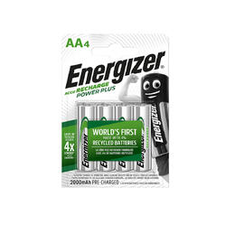 Pilhas Recarregáveis Energizer 4 AA/HR6 2000 mAh