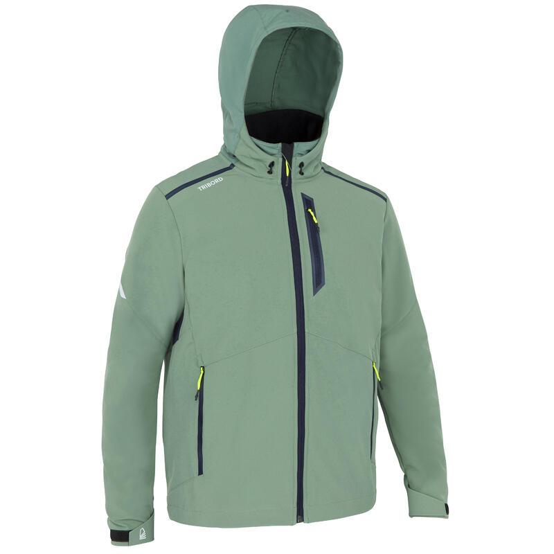 Jachetă Softshell anti-vânt navigație SAILING 900 Kaki Bărbați