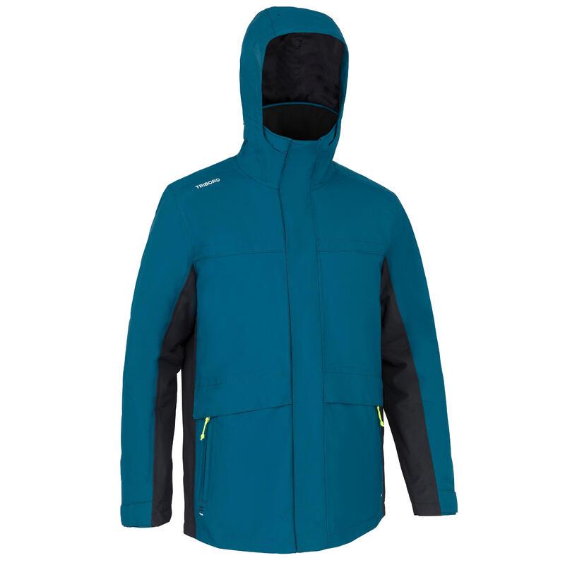 Jachetă călduroasă navigație 100 Albastru Petrol Bărbați