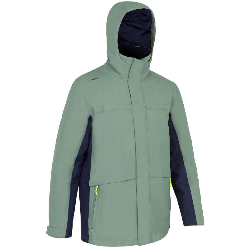 Jachetă călduroasă navigație 100 Kaki Bărbați