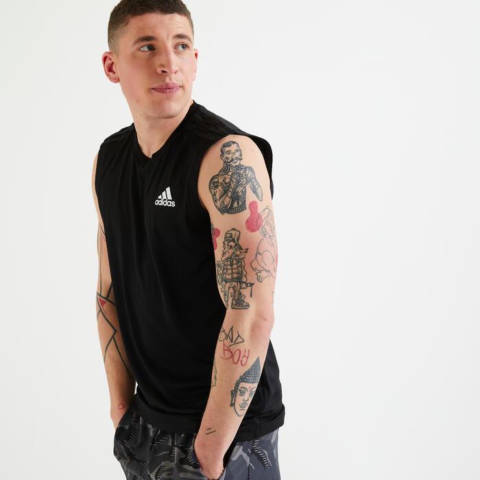 T-shirt sem mangas homem preto
