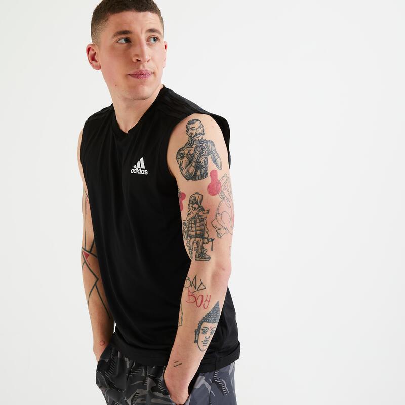 Mouwloos shirt Aeroready zwart