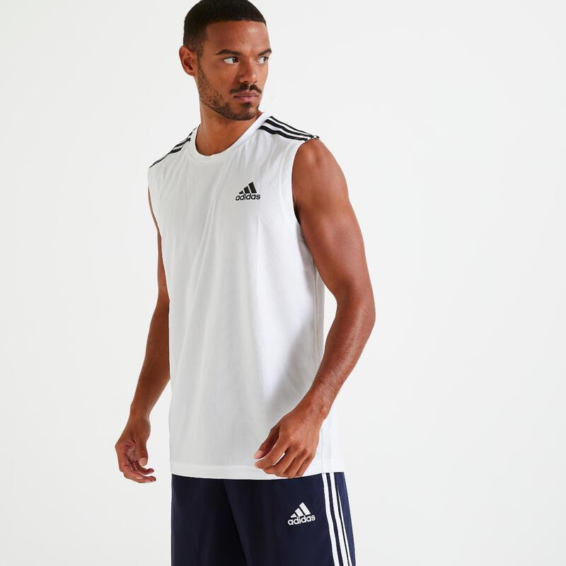 Canotta uomo Adidas AEROREADY bianca