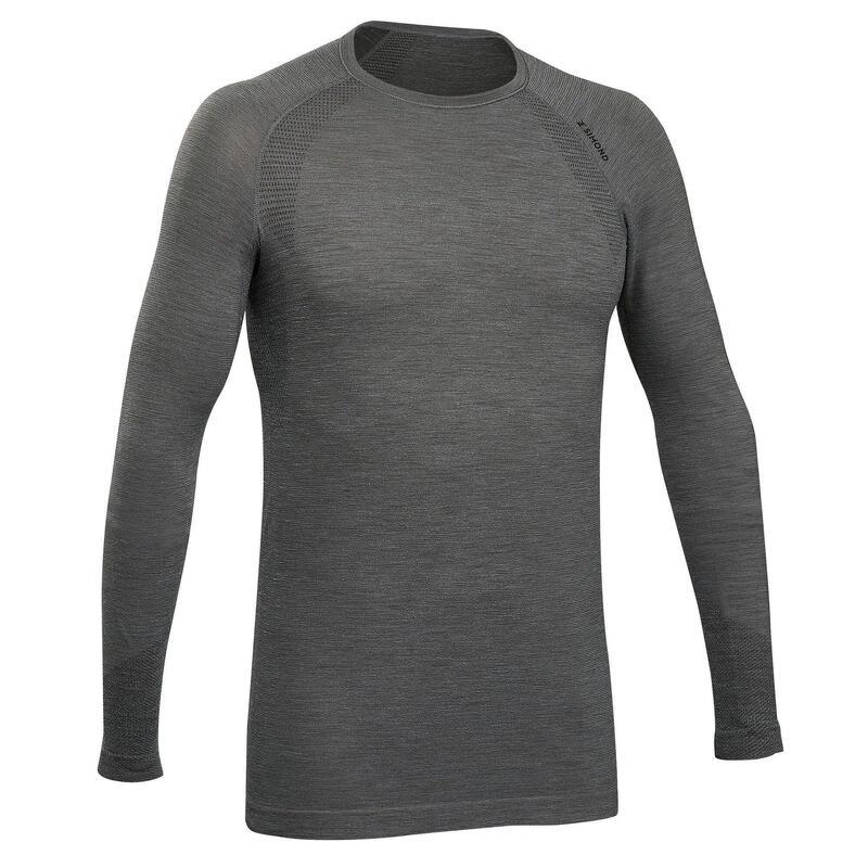 Pánské lezecké vlněné bezešvé tričko s dlouhým rukávem ALPINISM