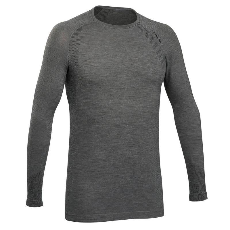 OBLEČENÍ NA ALPINISMUIS Turistika - Bezešvé vlněné tričko SIMOND - Turistické oblečení