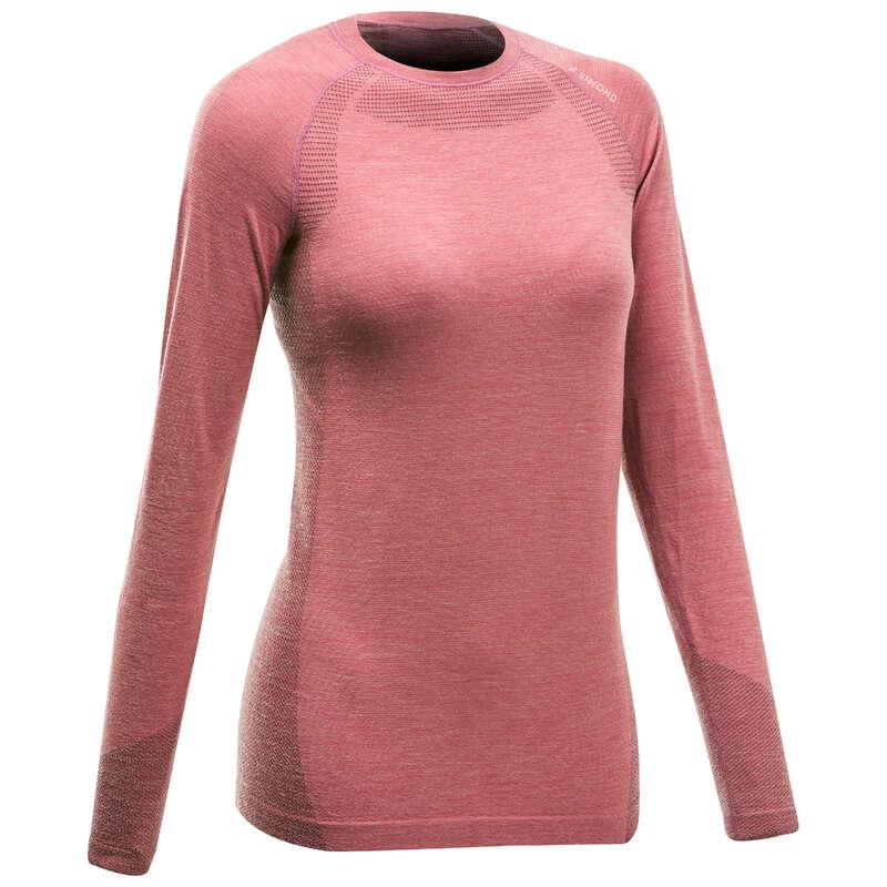 ODJEĆA ZA ALPINIZAM Odjeća za žene - Podmajica dugih rukava vunena SIMOND - Ženske majice dugih rukava