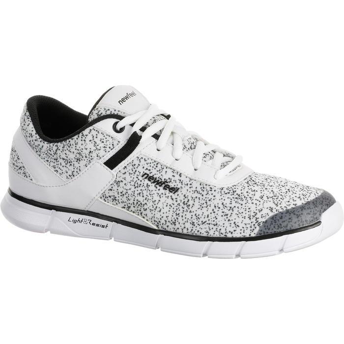 Chaussures marche sportive femme Soft 540 blanc moucheté - 203749