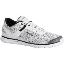Damessneakers Soft 540 wit met spikkels