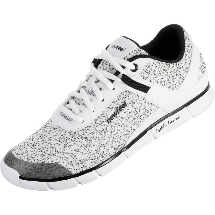 Chaussures marche sportive femme Soft 540 blanc moucheté - 203760