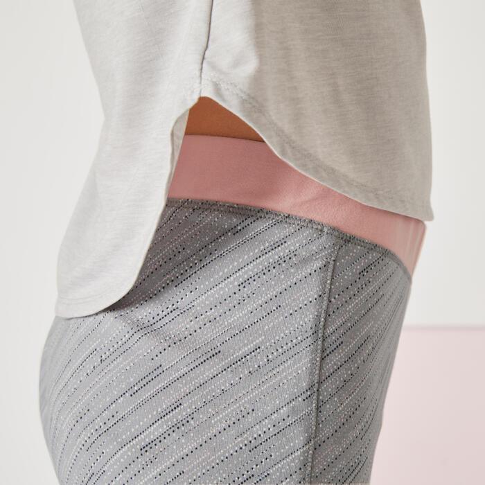Legging fille coton - 500 dégradé gris
