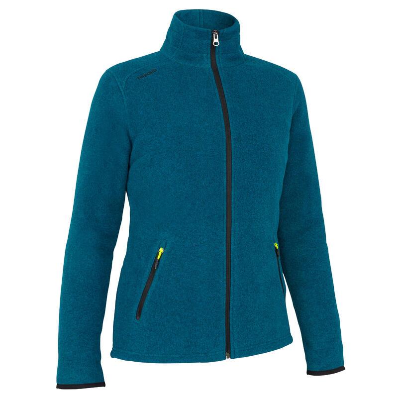 Women warm eco-design fleece sailing jacket 100 - Petrol