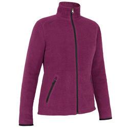女款節能設計保暖刷毛航海外套100-刷色黑/紫色
