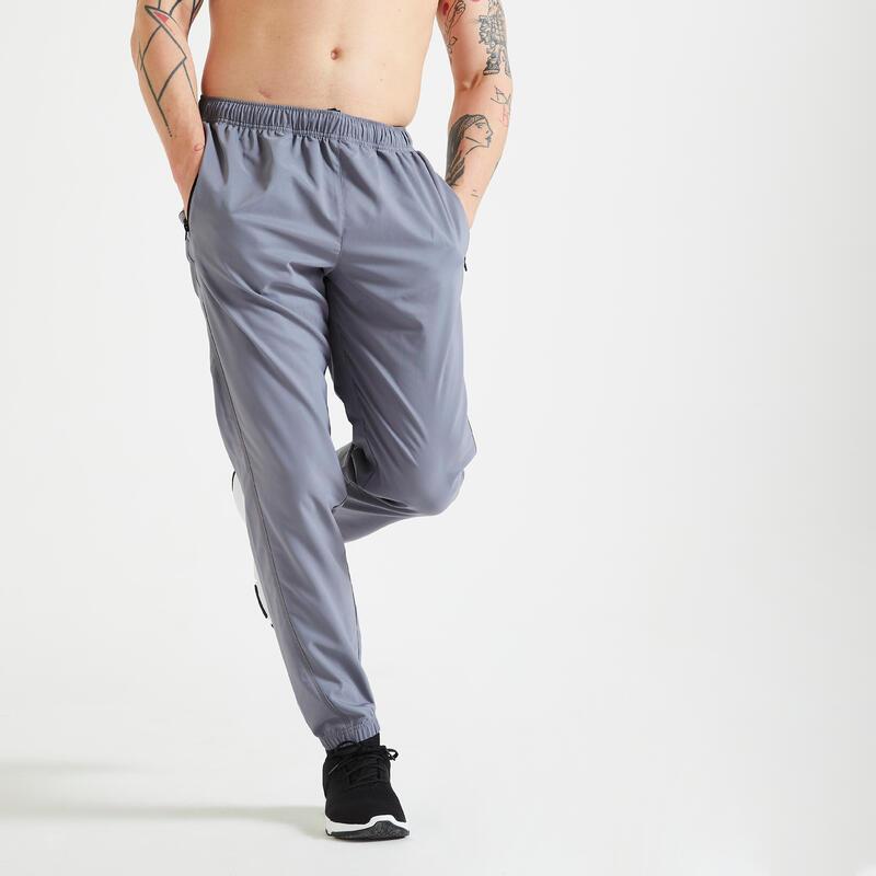 Pantalón Chandal Hombre fitness gris eco-responsable
