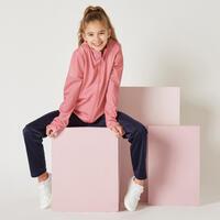 Survêtement basique synthétique chaud Gym'y rose, pantalon marine enfant