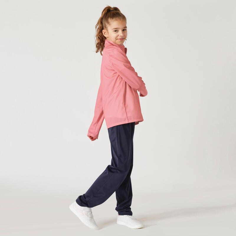 Dívčí hřejivá souprava Gym'Y S500 růžovo-modrá