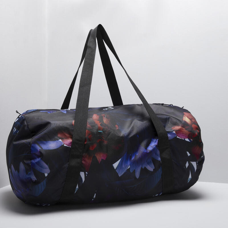 Fold-Down Fitness Bag 30L - Jungle Print, To Match With Our Outfits