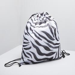 Saco Dobrável para Calçado de Fitness, Estampado Zebra para se destacar!