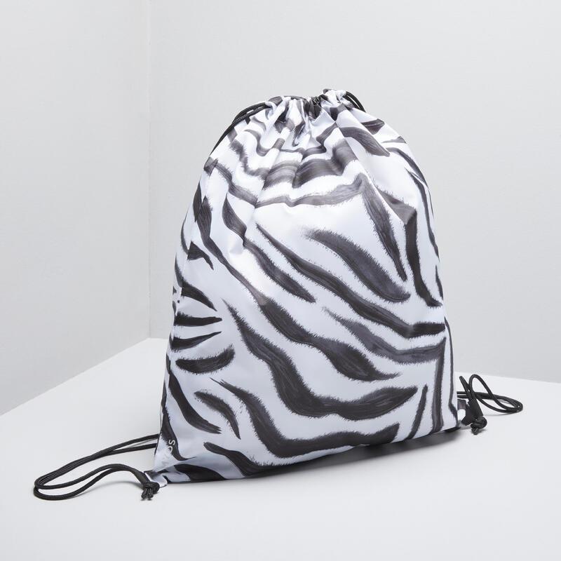 Sacca porta-scarpe pieghevole zebrata