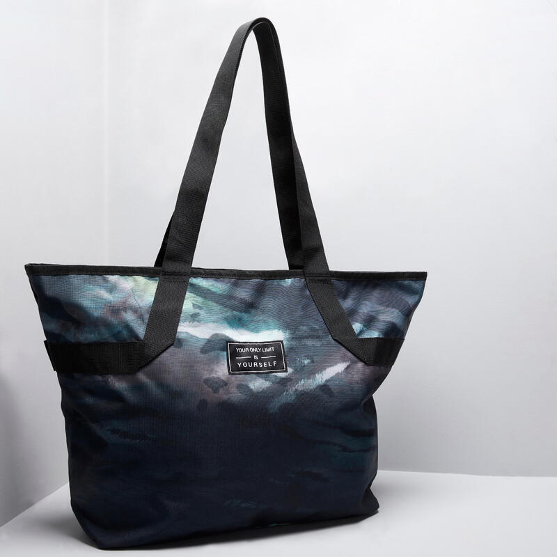 The sport tote with a faded print: a must-have for your fitness kit.