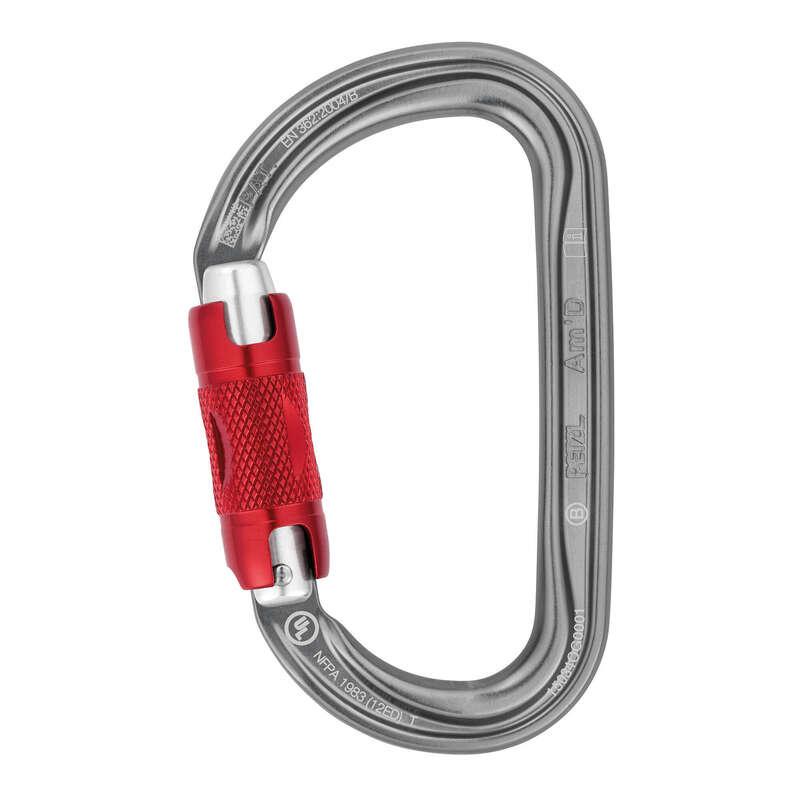 Kanyoning felszerelések Sziklamászás, alpinizmus - Karabiner Am'D Twist-Lock PETZL - Hegymászó felszerelés