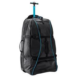 Koffer op wieltjes / rugzak Sport 90 l zwart/blauw