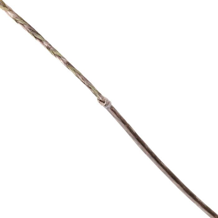 Vorfachmaterial ummantelt Stiff Coated Braid grün/grau