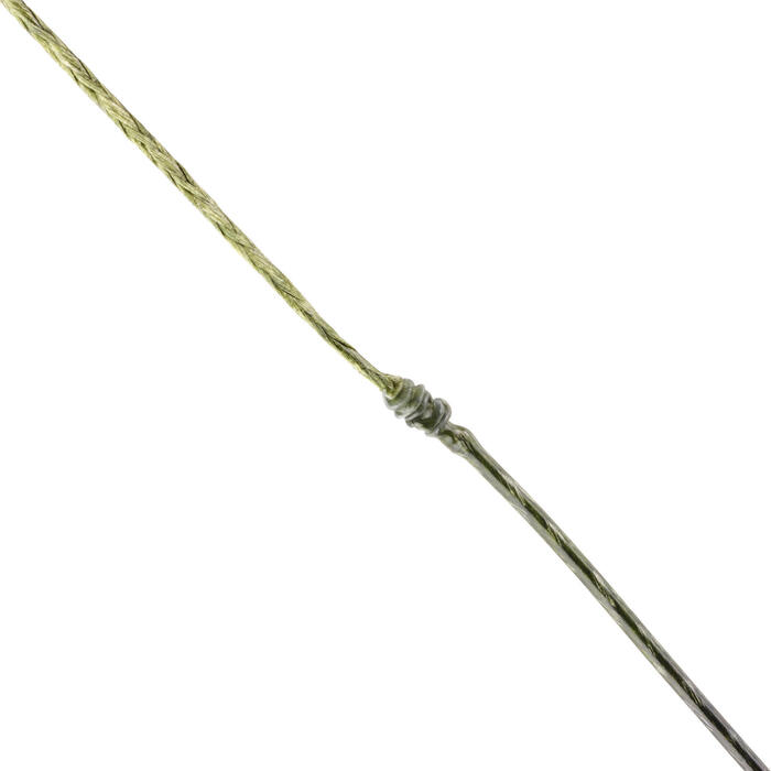 Vorfachmaterial ummantelt Stiff Coated Braid braun/sandfarben