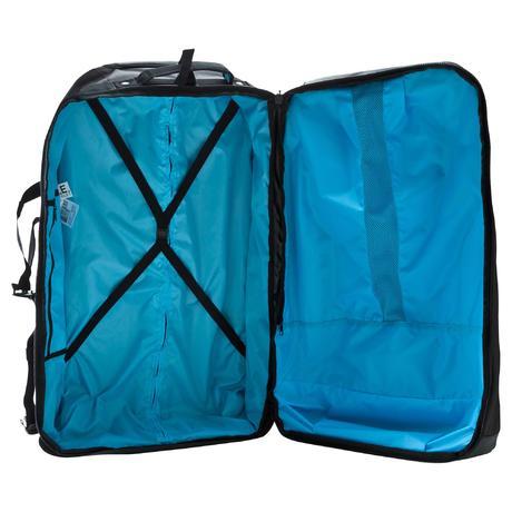 valise roulettes sac dos sport 90l noir bleu newfeel. Black Bedroom Furniture Sets. Home Design Ideas
