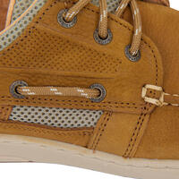 Men's Leather Boat Shoes CLIPPER - Brown