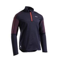 T-shirt termica tennis bambino 500 nero-rosso