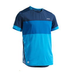 Boys' Tennis T-Shirt Soft 500 - Blue
