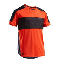 T-shirt tennis bambino 500 rosso-nero