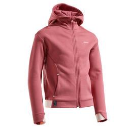 Felpa termica tennis bambina 500 rosa antico