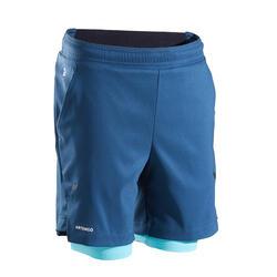 Pantaloncini termici bambino 500 turchesi