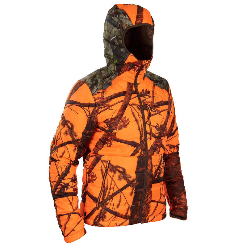 DOUDOUNE CHASSE COMPACTABLE CAMOUFLAGE FLUO 900
