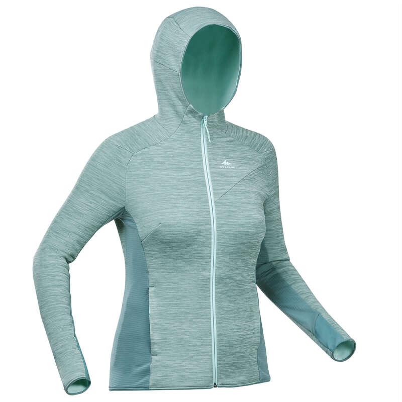 ŽENSKA ODJEĆA OD FLISA ZA PLANINARENJE Odjeća za žene - Jakna od flisa MH900 ženska QUECHUA - Ženski puloveri i veste