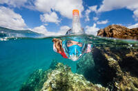 Masque de snorkeling en surface Easybreath 500 flower