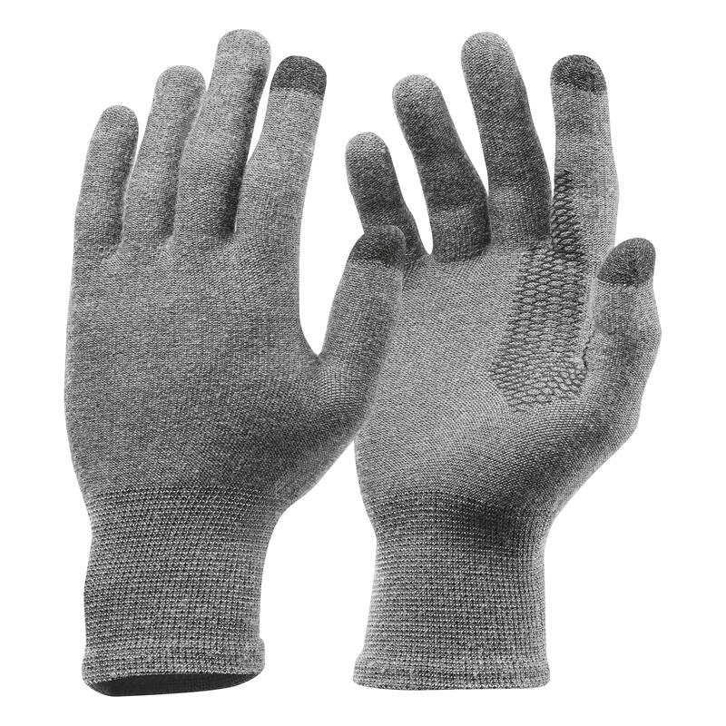 Spodní bezešvé rukavice Trek 500 šedé