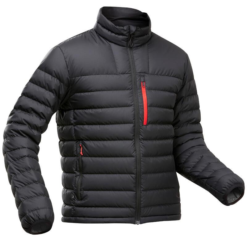 Doudoune en duvet de trek montagne - TREK 500 -10°C noir - homme