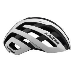 Fietshelm voor racefiets Century +led zwart/wit