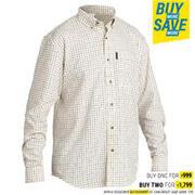 Men's Full Sleeve Shirt 500 White Check