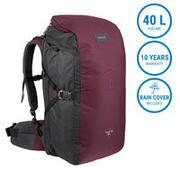Travel Backpack 40 Liters TRAVEL 100 - Bordeaux