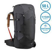 Trekking Backpack Trek 100 50 Liters Easyfit- black